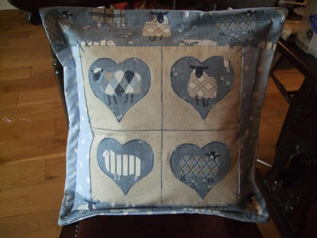 Applique heart cushions cartwheels craft centre